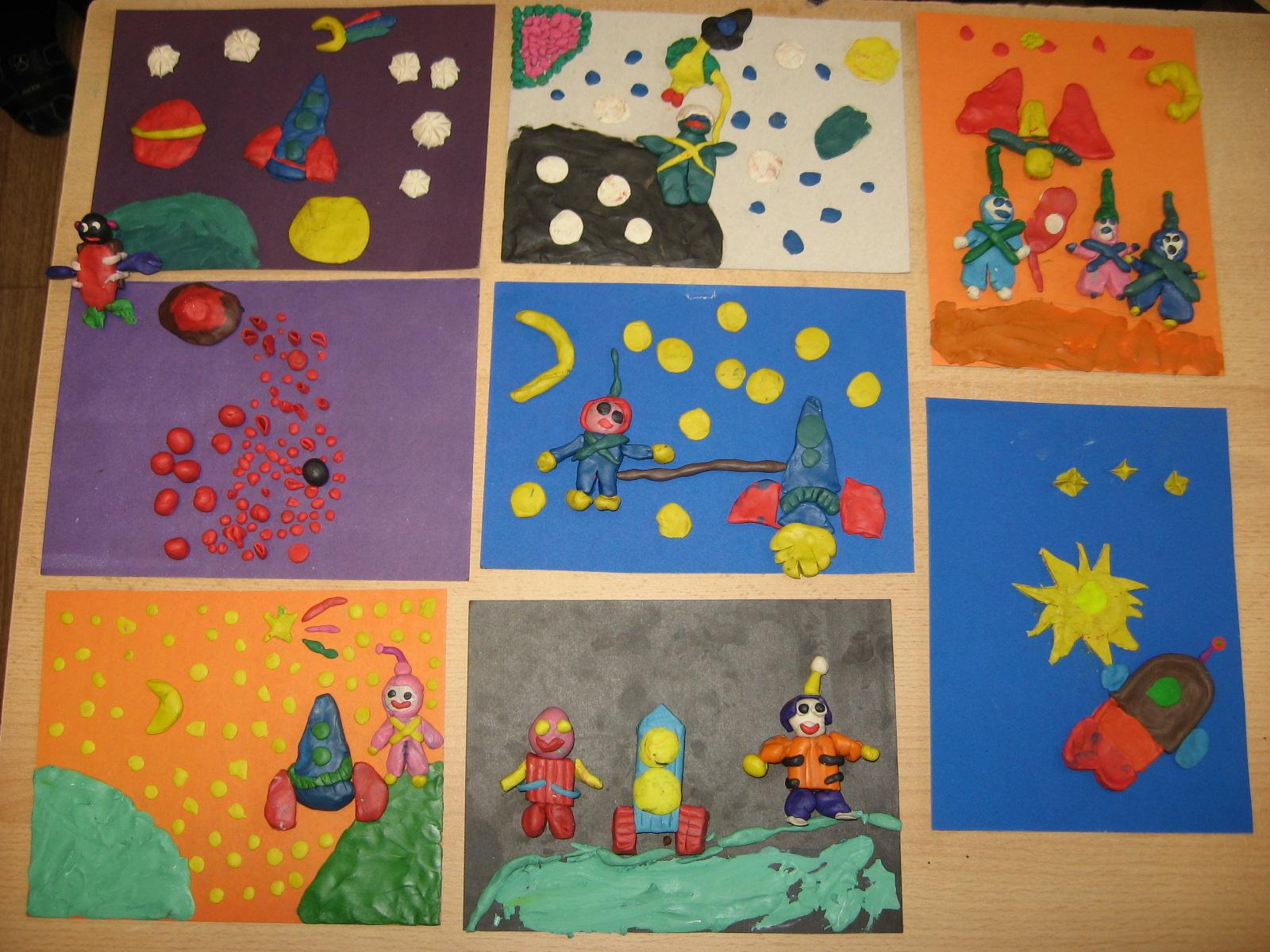 Поделка Солнечная система из пластилина Детский сайтик 84