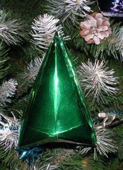 Объёмный фонарик для новогодней ёлки