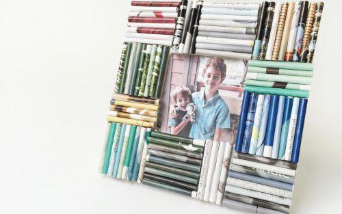 Оформление рамки для фото в технике квиллинг